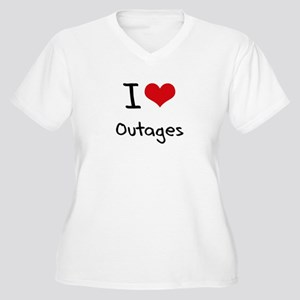 I Love Outages Plus Size T-Shirt