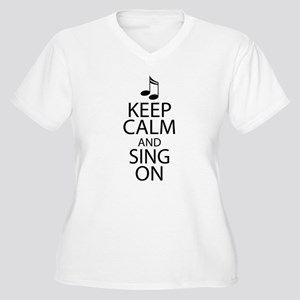 Choir Sing Penguin Music Women's Plus Size V-Neck
