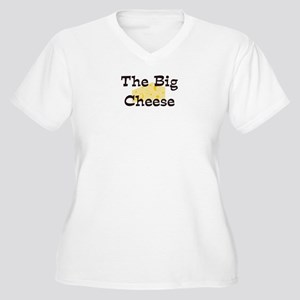 Big Cheese Women's Plus Size V-Neck T-Shirt
