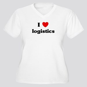 I Love logistics Women's Plus Size V-Neck T-Shirt