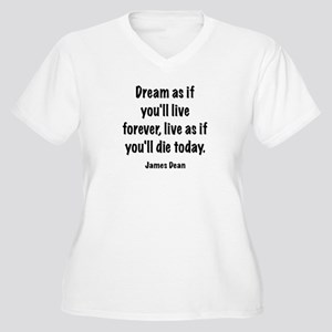 Dream as if Women's Plus Size V-Neck T-Shirt