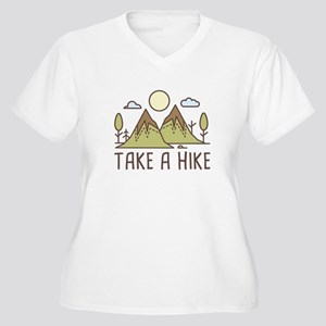 Take A Hike Women's Plus Size V-Neck T-Shirt