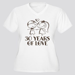 0a968199f8 30th Anniversary Women's Plus Size V-Neck T-Shirt