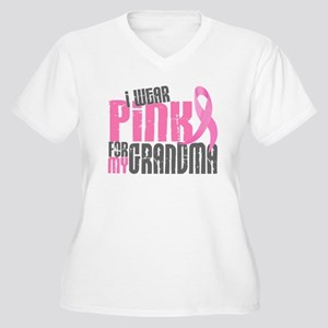 I Wear Pink For My Grandma 6.2 Women's Plus Size V