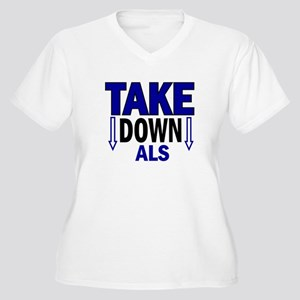 Take Down ALS 1 Women's Plus Size V-Neck T-Shirt