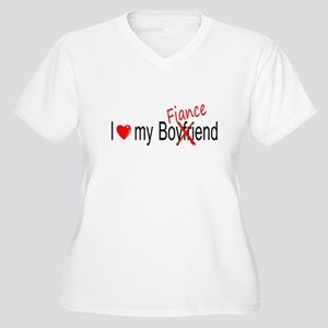 I Love My Fiance Women's Plus Size V-Neck T-Shirt