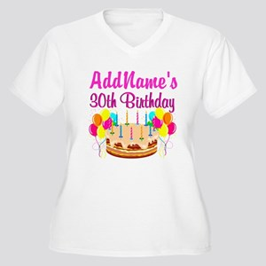 04403c365 Happy 30th Birthday Women's Plus Size T-Shirts - CafePress