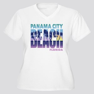 Panama City Beach Women's Plus Size V-Neck T-Shirt
