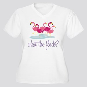 What The Flock? Women's Plus Size V-Neck T-Shirt