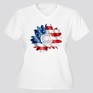 2db0fdeb Red White And Blue Women's Plus Size T-Shirts - CafePress