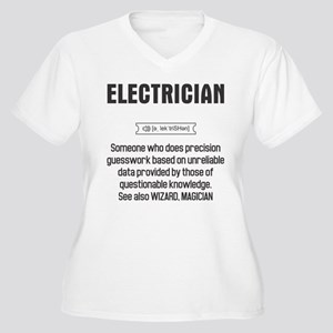 Funny Electrician Definition Plus Size T-Shirt