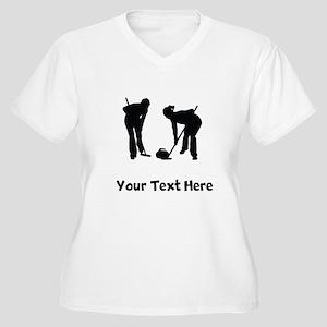 18911ac355 Curling Women's Plus Size T-Shirts - CafePress