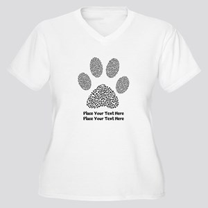 bf1e80899adb Dog Paw Print Per Women's Plus Size V-Neck T-Shirt