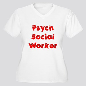 Psych Social Worker Women's Plus Size V-Neck T-Shi