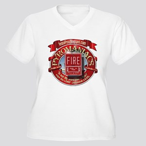 Fire Alarm Women's Plus Size V-Neck T-Shirt