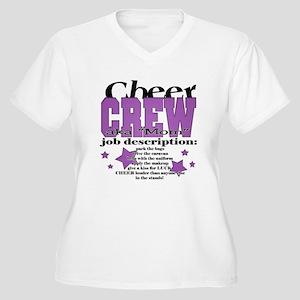 dae9571a8 Cheer Crew aka Mom Women's Plus Size V-Neck T-Shir
