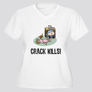 Crack kills! funny Women's Plus Size V-Neck T-Shir