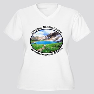 Olympic National Park Women's Plus Size V-Neck T-S