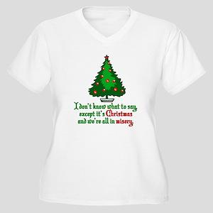56ce6794f Christmas Vacation Misery Women's Plus Size V-Neck