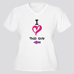 I Love this guy Women's Plus Size V-Neck T-Shirt
