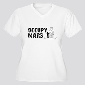 Occupy Mars Women's Plus Size V-Neck T-Shirt