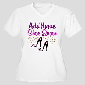 0ecd187a9a FUN PURPLE SHOES Women's Plus Size V-Neck T-Shirt