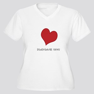 individual text, heart Plus Size T-Shirt