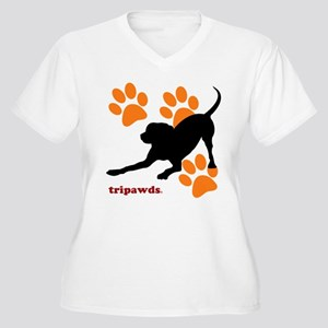 Tripawds Hound Dog Plus Size T-Shirt