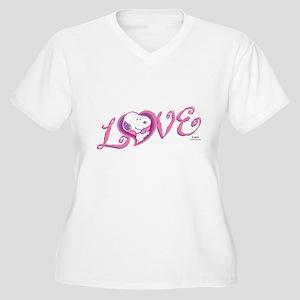 23cb1970 Valentines Day Snoopy Women's Plus Size T-Shirts - CafePress