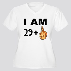 Middle Finger 30th Birthday Plus Size T-Shirt