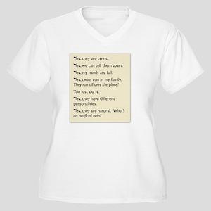 118ed41d Parents Of Twins Women's Plus Size T-Shirts - CafePress