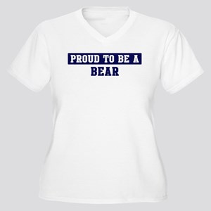 Proud to be Bear Women's Plus Size V-Neck T-Shirt
