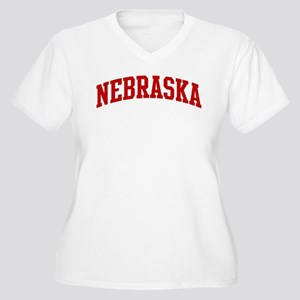 e458a7895 NEBRASKA (red) Women's Plus Size V-Neck T-Shirt