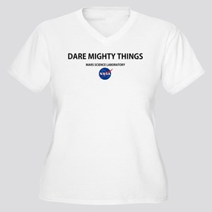 Dare Mighty Things Women's Plus Size V-Neck T-Shir