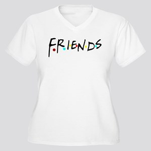 friendstv logo Women's Plus Size V-Neck T-Shirt