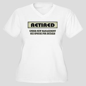 2a51009b Retirement Gag Women's Plus Size T-Shirts - CafePress