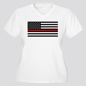 Firefighter Flag Plus Size T-Shirt