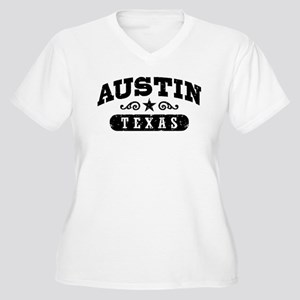 Austin Texas Women's Plus Size V-Neck T-Shirt