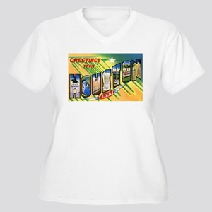 Houston Texas Greetings Women's Plus Size V-Neck T