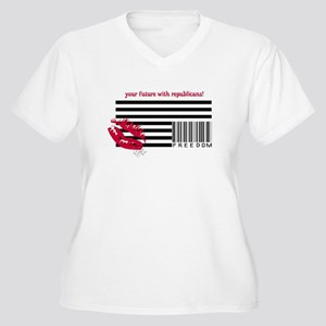 Upside Down Flag Women's Plus Size T-Shirts - CafePress