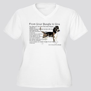 A Beagle's letter to you Plus Size T-Shirt