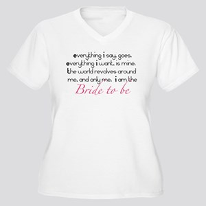 Bride to be Plus Size T-Shirt