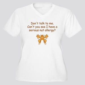 Nut Allergy Plus Size T-Shirt