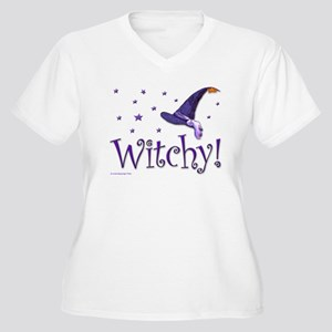 Witchy Hat Women's Plus Size V-Neck T-Shirt