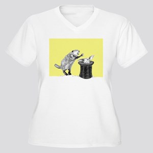 Yellow beaver and rabbit Plus Size T-Shirt
