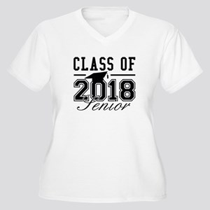 Class Of 2018 Senior Women's Plus Size V-Neck T-Sh