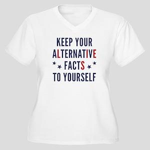Alternative Facts Women's Plus Size V-Neck T-Shirt