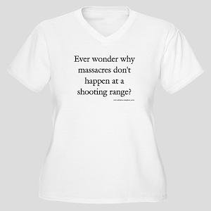 Guns & Massacres Women's Plus Size V-Neck T-Shirt