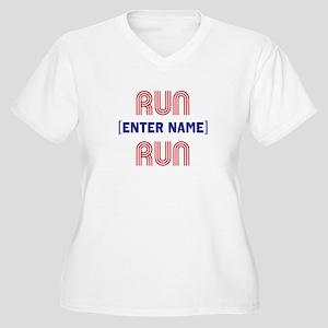 Run... Run Women's Plus Size V-Neck T-Shirt