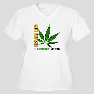 It's My Life Women's Plus Size V-Neck T-Shirt